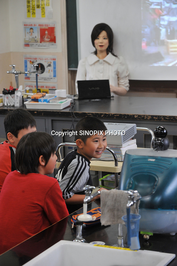 SAYA TEACHER ROBOT; TOKYO, JAPAN | Sinopix Photo Agency
