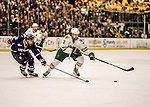 20 January 2017: University of Vermont Catamount Defenseman Mike Lee, a Sophomore from Hamden, CT, in second period action against the University of Connecticut Huskies at Gutterson Fieldhouse in Burlington, Vermont. The Catamounts lead throughout the game to defeat the Huskies 5-4 in Hockey East play. Mandatory Credit: Ed Wolfstein Photo *** RAW (NEF) Image File Available ***