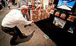 A toy investor display his toys Sprowtz during the 109th Annual American International Toy Fair in New York, United States. 13/02/2012.  Photo by Eduardo Munoz Alvarez / VIEWpress.
