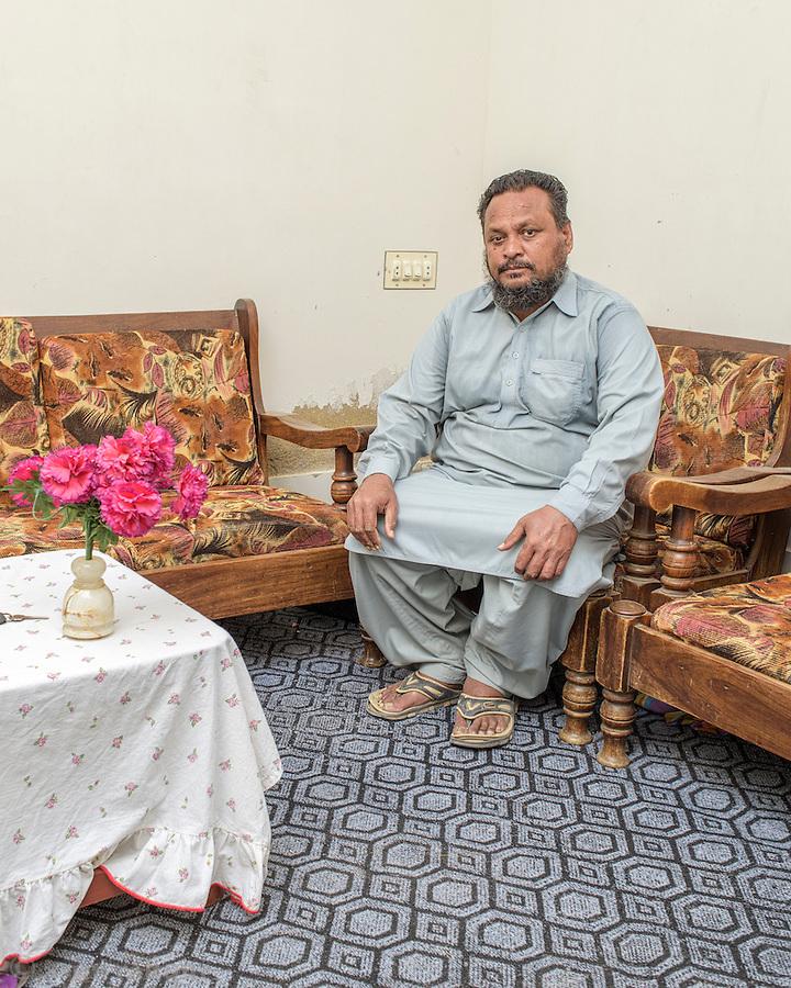 Nazeer Ahmed Qadri, a tannary worker from Karachi.