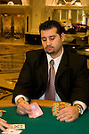 Nevada, Caesars Palace and Casino, gaming, gambling, poker, poker player, model released, NV, Las Vegas, Photo nv215-18000..Copyright: Lee Foster, www.fostertravel.com, 510-549-2202,lee@fostertravel.com