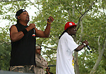 Chuck D and Flavor Flav of Public Enemy Performs at Central Park Summer Stage: DJ Kool Herc, Blitz the Ambassador and Public Enemy, NY 8/17/10