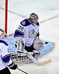 31 January 2009: Los Angeles Kings' goaltender Jonathan Quick in action against the Montreal Canadiens at the Bell Centre in Montreal, Quebec, Canada. The Canadiens defeated the Kings 4-3. ***** Editorial Sales Only ***** Mandatory Photo Credit: Ed Wolfstein Photo