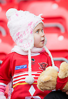 Picture by Allan McKenzie/SWpix.com - 04/03/2017 - Rugby League - Betfred Super League - Salford Red Devils v Warrington Wolves - AJ Bell Stadium, Salford, England - Salford fans, supporters.