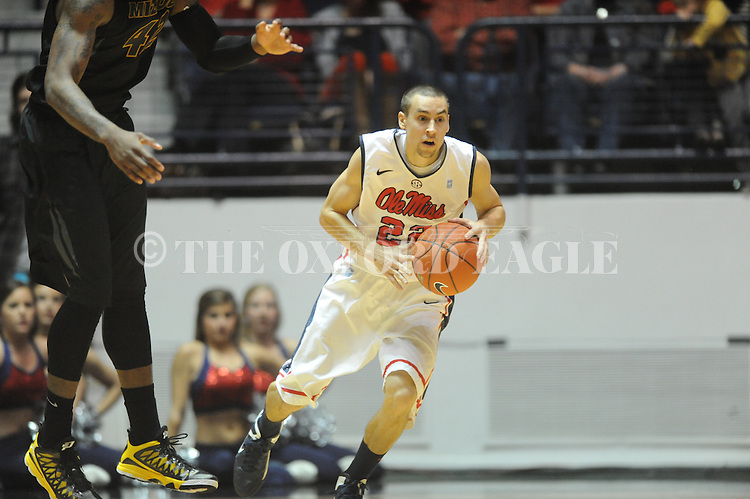 Ole Miss' Marshall Henderson (22) vs. Missouri at the C.M. &quot;Tad&quot; Smith Coliseum on Saturday, January 12, 2013. Ole Miss defeated #10 ranked Missouri 64-49.