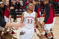 STANFORD, CA - JANUARY 16, 2015--Stanford's Amber Orrange,  during the Arizona game at Maple Pavilion.
