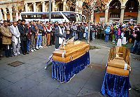 Funerals  of Mery Begum and his son in Rome