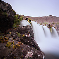One of the lower parts of Dynjandi waterfall in Arnarfj&ouml;r&eth;ur, Westfjords of Iceland.