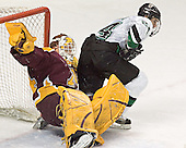 Kellen Briggs, Chris Porter - The University of Minnesota Golden Gophers defeated the University of North Dakota Fighting Sioux 4-3 on Saturday, December 10, 2005 completing a weekend sweep of the Fighting Sioux at the Ralph Engelstad Arena in Grand Forks, North Dakota.