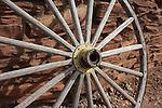 Wagon wheel near El Tovar