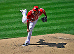 28 May 2011: Washington Nationals pitcher Henry Rodriguez on the mound against the San Diego Padres at Nationals Park in Washington, District of Columbia. The Padres defeated the Nationals 2-1 to even their 3-game series. Mandatory Credit: Ed Wolfstein Photo