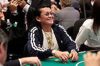 28 February 2009: Pro Player Thuan Scotty Ngyuen from Vietnam bets at the 7th Annual WPT World Poker Tour Invitational at the Commerce Casino in Los Angeles, CA. Players compete for poker glory and a  piece of the $200,000 prize pool. Celebrity and Pro card players in action.