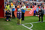 Stoke City 1 West Bromwich Albion 1, 24/09/2016. Bet365 Stadium, Premier League. Filming and photographing the ball on podium before Stoke City v West Bromwich Albion at the Bet365 Stadium. Photo by Paul Thompson.
