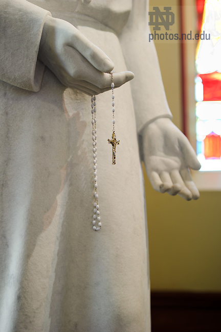Jan. 10, 2012; Saint Andre Bessette statue in the Basilica of the Sacred Heart..Photo by Matt Cashore/University of Notre Dame