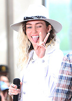 Miley Cyrus performs on NBC's Today Show