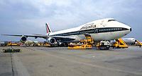 ROMA.Aereoporto Leonardo da Vinci.Aereoplano dell'Alitalia ..Alitalia airplane .