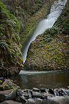 Bridal Veil Falls in Oregon along the Historic Columbia River Highway