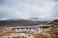 Alesjaure mountain hut run by STF, Kungsleden trail, Lapland, Sweden