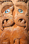 New Zealand, North Island, Wellington, Maori carving at Museum of Wellington City & Sea. Photo copyright Lee Foster. Photo #126593