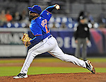 5 March 2012: New York Mets pitcher Miguel Batista in action during a Spring Training game against the Washington Nationals at Digital Domain Park in Port St. Lucie, Florida. The Nationals defeated the Mets 3-1 in Grapefruit League play. Mandatory Credit: Ed Wolfstein Photo