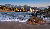 Fine Art Photograph of Banderas Bay in Puerto Vallarta, Mexico.<br />