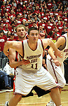 Aron Baynes (#11), Washington State senior center, fights for rebounding position during the Cougars Pac-10 conference game with the Beavers on February 14, 2009, in Pullman, Washington.  Despite a 12 point deficit at halftime, Oregon State came back to win the game 54-52.