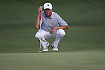 May 8,2011 - Davis Love looks over the green on 15.  Lucas Glover wins the tournament in sudden death over Jonathan Byrd at Quail Hollow Country Club,Charlotte,NC.