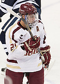 Steven Whitney (BC - 21) - The Boston College Eagles tied the visiting Yale University Bulldogs 3-3 on Friday, January 4, 2013, at Kelley Rink in Conte Forum in Chestnut Hill, Massachusetts.