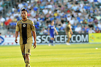 Michael Orozco leaving the field after being ejected by referee Alex Prus...Kansas City Wizards defeated Philadelphia Union 2-0, at Community America Ballpark, Kansas City, Kansas.