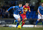 St Johnstone v Partick Thistle&hellip;02.03.16  SPFL McDiarmid Park, Perth<br />Joe Shaughnessy and Stuart Bannigan<br />Picture by Graeme Hart.<br />Copyright Perthshire Picture Agency<br />Tel: 01738 623350  Mobile: 07990 594431