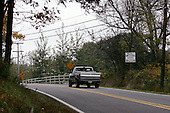 Kutztown, Pennsylvania.USA.October 21, 2004..Pro-Bush and Pro-Kerry signs on a back road within one mile of each other in Kutztown.