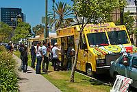 Papaya King, Gourmet Food Truck, Mid Wilshire, Los Angeles CA