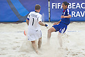 Vitalii Sydorenko (UKR), Masayuki Komaki (JPN), SEPTEMBER 4, 2011 - Beach Soccer : FIFA Beach Soccer World Cup Ravenna-Italy 2011 Group D match between Ukraine 4-2 Japan at Stadio del Mare, Marina di Ravenna, Italy, (Photo by Enrico Calderoni/AFLO SPORT) [0391]