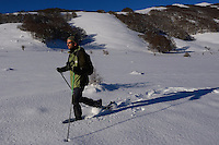 Snowshoeing, Deli Saavedra, Rewilding Europe, Central Apennines, Italy