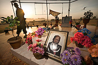 Mausoleum of the late John Garang, first President of South Sudan and leader of former rebel movement the SPLA (Sundan People's Liberation Army). He died in a helicopter crash soon after a peace agreement was signed between the North and the South. Central Equatoria, South Sudan.