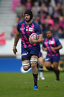 Hugh Pyle of Stade Francais scores his try during the European Challenge Cup semi final between Stade Francais and Bath on April 23, 2017 in Paris, France. ( Photo by Andre Ferreira / Icon Sport )