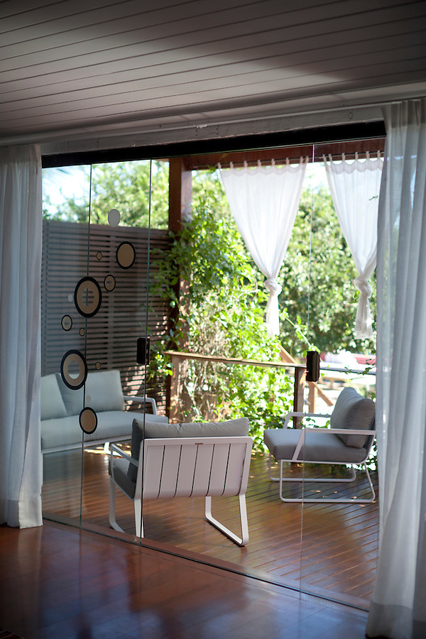 The veranda of the Melissa Suite (have to double check on the name), named after a trendy Brazilian brand of womens shoes, at Insolito, in Buzios, Brazil.