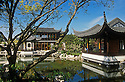 Lan Su Chinese Garden: Pavillions, Lake and Tea House; Portland, Oregon.