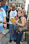 Gina Tognoni and fans attending The One Life to Live.43rd Anniversary Block Party outside the ABC Studio on July 15, 2011 in New York City.