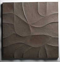 Giovanni Barbieri 24x24 inch Shades carved tile in Brown.