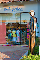 Fresh Produce, Clothing, Coda Art Gallery, El Paseo Drive, Palm Desert, CA, Art Sculptures, statue, Public Art, Statues. CA; California;