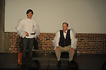 "Jared Davis (left) and Dave Bell are storks as they perform the 10 minute play ""Flying Solo"" during the Yoknapatawpha Arts Council's ""Art For Everyone"" fundraiser in Oxford, Miss. on Tuesday, October 18, 2011."