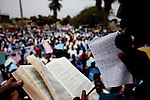 Ugandans demonstrate against homosexuality  in the streets of Jinja, Uganda. The march was planned by community and religious leaders to put pressure on the Ugandan parliment to pass a strict anti-homosexuality bill that would make certain offenses punishable by death.
