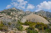The granite mountains of Montecristo Island, Tuscany, Italy