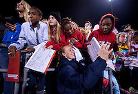 Becky Sauerbrunn, Fans. The USWNT tied New Zealand, 1-1, at an international friendly at Crew Stadium in Columbus, OH.