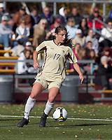 Boston College forward Alaina Beyar (17) controls the ball. Florida State University defeated Boston College, 1-0, at Newton Soccer Field, Newton, MA on October 31, 2010.