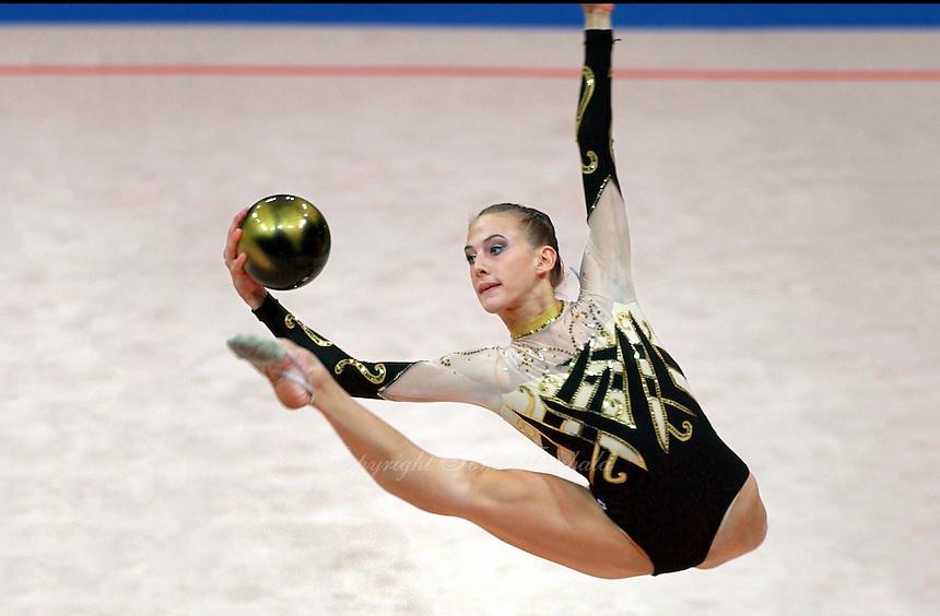 Oct 01, 2000; SYDNEY, AUSTRALIA:<br /> Susanna Marchesi of Italy performs ball during rhythmic gymnastics final at 2000 Summer Olympics. <br /> Photo by Tom Theobald/ZUMA Press.