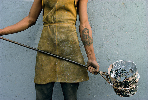 A concrete worker in Baja California.
