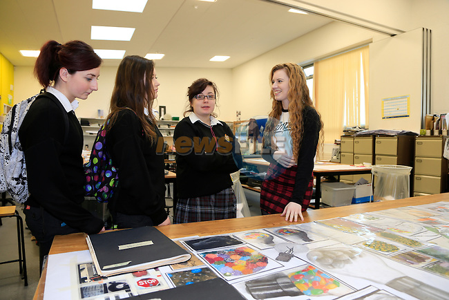 Vivianne Sheridan<br /> Joanna Mullen<br /> Elisha Sharkey<br /> Tanya Byrne at the open day in Drogheda college for further education.<br /> Picture: Fran Caffrey www.newsfile.ie