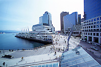 """""""Canada Place"""" Trade and Convention Centre and Waterfront Centre, Downtown Vancouver, British Columbia, Canada, from New Convention and Exhibition Centre"""